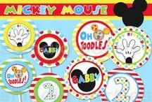 Mickey and Minnie Printables / by Sara Grilo