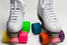 """Roller Skating  / I was practically born wearing skates!  My parents owned and operated the Buena Park Rollertorium in Buena Park, CA from the time I was a year old until I was nineteen.  During that time I took lessons, competed (dance, singles, and pairs), became a judge, and was an instructor ... then I stopped skating, finished  college, married, had a child, and began to pursue other interests. But, with this Board, I can """"roll down"""" memory lane. / by Barb Smith"""