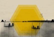 yellow + grey / by Meg at September Wren