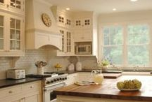 Alameda Remodel / Kitchen and Living Spaces Remodel. Guiding Attributes: clean, organized, timeless aesthetic, nuances of Craftsman style with touches of color (hues of blue) vis-à-vis kitchen backsplash, furnishings, art and textiles. / by The Design Partner