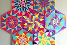 Angular Color / angles chevrons triangles diamonds hexagons / by Janet Sternberg