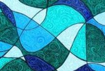 Curved Color / curves paisley spheres spirals swirls waves / by Janet Sternberg