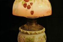 Lamps Old and New / Custom designed and hand painted china lamp shades and night lights. Hand painted and kiln fired glass replacement shades for antique lamps. / by Bonnie Schuon
