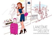 Lancôme selects DELSEY / Travel Beautifully! What do Lancôme and DELSEY have in common? Fine French heritage, decades of Parisian style, and a desire to help women enjoy the finer things in life. In celebration of this new partnership, we thought we would give 4 lucky fans the chance to win DELSEY + Lancôme exclusive travel beauty gifts. Enter to win the perfect gift here!  http://bit.ly/1pvha3Q    / by DELSEY USA
