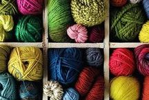 Knitting - Yarn! & Other Supplies / Glorious materials to make great and beautiful things with sticks and hooks! / by Danielle Fowler