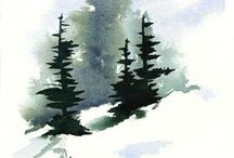 Watercolor Christmas ideas / by Trudy Allen