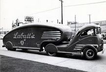 Trucks; Commercial and Delivery Vehicles / Vintage Commercial Vintage trucks, vans and Delivery vehicles / by Joe Yogurt