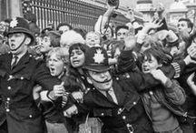 Beatles / The Beatles, banda de rock britânica, formada em Liverpool em 1960.É o grupo musical mais bem sucedido da história da música popular em todo o mundo. Integrantes John Lennon,Paul McCartney, George Harrinson, Ringo Starr, e inicialmente Pete Best(1962) e Stuart Sutcliffe(1961) . / by Jurema Rodrigues