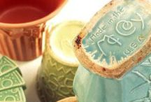 Antique Pottery Planters / by Lori Schliep
