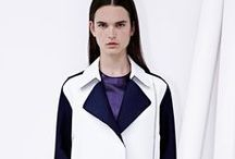 "SALE - RESORT 2014 LOOKBOOK / The idea of ""Classic-Twisted"" is explored with gathered silhouettes that play with transparency, opacity and angled lines. Visit our website for more details. / by 3.1 Phillip Lim"