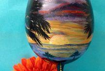 Amazing glassware / Amazing and beautiful hand painted glassware  / by Meg Arana