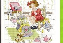cross stitch, embroidery,knit & crochet for kids / by angy