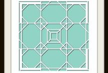 Octagons Stencil / This Board features different Photo Collage layouts all using the Octagons Stencil as the design template.  $23.99 / by Lea France Scrapbooking (Photo Collage)