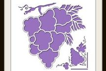 Grapes Stencil / This Board shows different Photo Collage layouts all using the Grapes Stencil as the design template.  $18.99 / by Lea France Scrapbooking (Photo Collage)