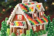 """GINGERBREAD HOUSES"" / Great ideas to try ! So  many to choose from.  / by CJ Manowski"