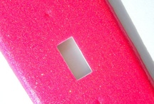 Hot Pink Glitter Theme / Inspiration and room decor to match with my hot pink glitter light switch and outlet covers.  / by Lindsay's Lights