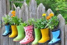 Garden Art Ideas / by Karen Beckett
