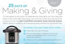 25 Days of Making & Giving - CONTEST CLOSED / Tis the season to be crafty! To celebrate the many gifts you can make and share in the iconic Ball canning jar, we invite you to pin your favorites for a chance to win the Ball FreshTECH Automatic Home Canning System ($300 value)! In addition, we'll be giving away another fun prize each day. OFFICIAL RULES: http://www.freshpreserving.com/holiday-25-days-of-giving-facebook-sweeps-rules-final.pdf / by Ball® Canning