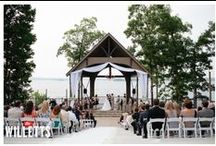 Legacy's Peachtree Pointe / Dramatic Lakeside Ceremony Location with Spacious Indoor Reception! Sitting high on a hilltop overlooking the lake, the arched shape of what is one of Lake Lanier Islands' largest and most impressive lakeside venues lends iteself to a sense that the bride and groom are encircled in a collective embrace from their friends, loved ones and Mother Nature herself. The adjoining pavillion offers plenty of space to comfortably host up to 500 guests! / by Lake Lanier Legacy Weddings