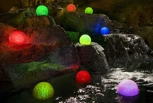 Pool Lighting Ideas / A collection of pool lighting pictures to hopefully help spark some ideas. Not all of them are within the realm of possibility for the average backyard pool, but you never know where you might find inspiration. / by Pool Pricer