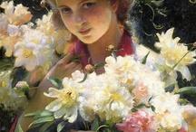 Mujer y flores en el arte / by concepcion vic