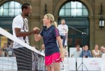evian - Gaël Monfils at Zurïch / The 17th of June 2014, Gaël Monfils was at Zurich Central Station (Switzerland) for a great public match with evian! / by evian Liveyoung