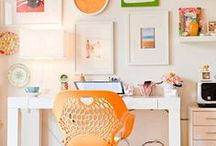 Home Office/Studio / workspace / by Julie {The Hyper House}