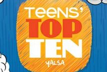 """Teens' Top Ten / The Teens' Top Ten is a """"teen choice"""" list, where teens nominate and choose their favorite books of the previous year. / by Johnsburg Public Library"""