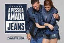 Amarre seu amor com um novo jeans! / Amarre a pessoa amada: aposte no jeans e conquiste seu amor neste Dia dos Namorados! Encontre o presente perfeito aqui na Damyller: http://goo.gl/Glultk / by Damyller