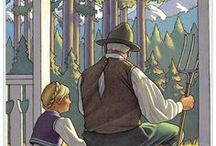 """A STORY, PLEASE! / CHILDREN'S BOOKS and ILLUSTRATIONS   """"You may have tangible wealth untold; caskets of jewels and coffers of gold. Richer than I you can never be. I had a father who read to me."""" - Gillian Strickland   ~ THANK YOU, DADDY! ~ / by Dottie C"""