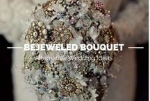 Bejeweled Bridal Bouquets / Your wedding is the perfect opportunity to showcase your personal style. If you're a jewelry lover, why not try one of these alternative bridal bouquets?  / by Geolat and Associates