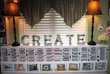Craft Room Storage Ideas / by Lisa Mullen Buesing