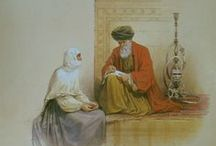 The Muslim world / This is the world of Seraglio, silks and sherbets. An artistic view (often inaccurate) of the Muslim world that extended from Southern Spain to the Coromandel coast of the Mughal Empire as portrayed by various artists, with the odd sprinkling of the genuine article.  / by Stephen Tindle
