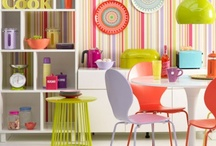 colorful interior designs and decor / by Kyoko