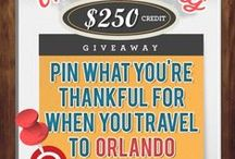 When I travel to Orlando, I'm thankful for... / HOLIDAY GRAND PRIZE GIVEAWAY: Pin what you are thankful for when you travel to Orlando to be entered to win $250 credit with Undercover Tourist! Learn how to enter here: http://blog.undercovertourist.com/2013/11/win-250-undercover-tourist-thanksgiving-pinterest-giveaway/ / by Undercover Tourist