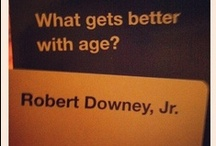 robert downey Jr / his wit holds no bounds..top of the league / by Jo
