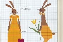 LAPINS / CROSS STITCH / by Marie-jacqueline Scapol