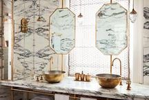 Bathrooms / banheiros, bath, shower, baño, lavabo, banho, banheira, chuveiro / by Juliana Glup