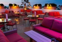 Cosmopolitan Sky Lounge - Installation Photos / The Cosmopolitan Sky Lounge features Marseille outdoor wicker lounge furniture, wrought iron chairs and bar stools, teak table tops, and our Margate table base. / by Contract Furniture Company