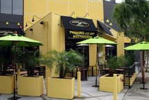 Fresh Corn Grill - Installation Photos / Photos from the Westwood and Hollywood, CA locations, which feature bonded leather chairs, antique pine table tops, market umbrellas, Metro side chairs, and teak outdoor table tops. / by Contract Furniture Company