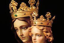 Santos, Angels, and Virgins / Saints, Angels, Madonnas, Virgin Mary, Santos, Blessed Mother, Our Lady, La Virgen, Nuestra Señora, La Virgen Maria. / by Carmen Edwards