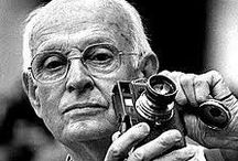 Henri Cartier-Bresson (1908-2004) / Henri Cartier-Bresson was a French photographer considered to be the father of photojournalism. He was an early adopter of 35 mm format, and the master of candid photography. Wikipedia Born: August 22, 1908, Chanteloup-en-Brie, France Died: August 3, 2004, Montjustin, France Spouse: Martine Franck (m. 1970–2004), Ratna Mohini (m. 1937–1967) Artwork: Tours de Notre Dame (Towers of Notre Dame), more Movies: Life Belongs to Us, The Return, Spain Will Live / by Richard Guimond