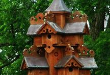 GARDENING IT'S FOR THE BIRDS HOW TO'S! BIRDHOUSES & FEEDERS / A bird does not sing because it has an answer.  It sings because it has a song. My favorite weather is bird-chirping weather.  There is nothing in which the birds differ more from man than the way in which they can build and yet leave a landscape as it was before.   / by Linda Luttrell