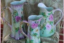Vintage Vase,Pitcher & Water Basin / by Susan Bilbrey
