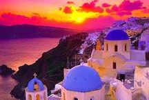 Greece....<3! / When I see pictures of the Greek coastline or islands...Mykonos or Santorini although I have never been there I feel like I have.  Just so familiar. / by Kaye Smith