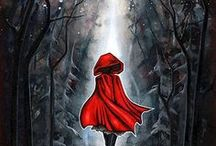 Poster - Little Red Riding Hood / and illustration, photography, painting, book cover .. / by Rene Wanner