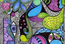 Zentangles, Mandalas, and Zendalas.. / Love to zentangle, it's so relaxing, and  fills in those empty hours / by Nicky Beattie