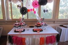 40th&20th bday party black white pink&Orange with a pop of 80's / by Kathleen Fry