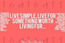 The Worthwhile Life Infographics / living the simple life... / by Mia MacMeekin
