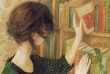 """Books / """"I have always imagined that Paradise will be a kind of library."""" Jorge Luis Borges / by Andrea Díaz"""